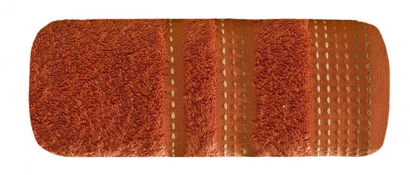 Ręcznik Kąpielowy Eurofirany Pola 04 500 g/m2 Pomarańczowy 50x90