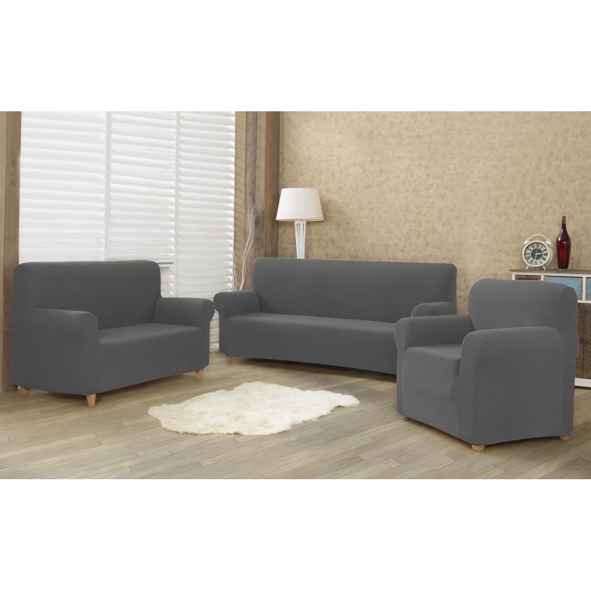 4Home Multielastyczny pokrowiec na kanapę 2-os. Comfort, szary, 140 - 180 cm, 140 - 180 cm