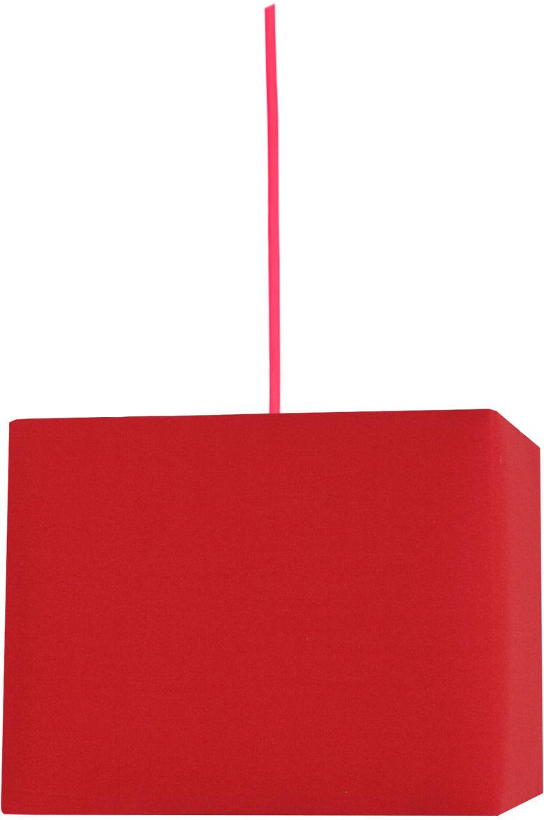 Candellux BASIC 31-06066 lampa wisząca kwadratowy czerwony abażur 1X60W E27 30 cm