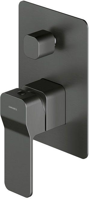 Omnires Slide Bateria wannowa podtynkowa grafit SL7735GR