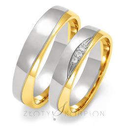 Obrączki ślubne Złoty Skorpion  wzór Au-OE195