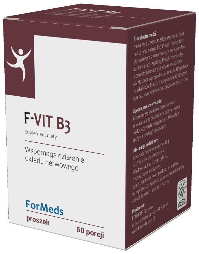 F-VIT Witamina B3 Niacyna 50 mg + Inulina Proszek 48 g ForMeds