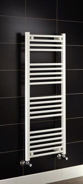 Grzejnik łazienkowy york - wykończenie proste, 500x1200, biały/ral