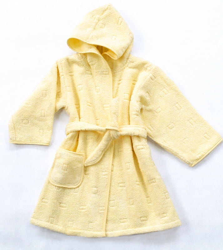 Szlafrok dla Dzieci Greno Żółty rozmiary od 1,5 do 12 lat