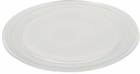 TECNHOGAR 245 mm talerz do kuchenki mikrofalowej gładki przezroczysty grawerunek