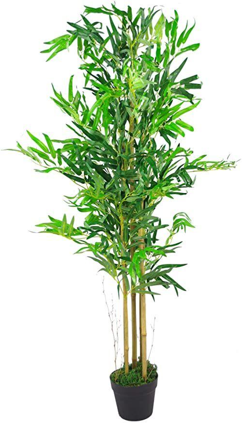 Leaf Design UK sztuczne rośliny bambusowe/drzewa, drewno, naturalny brąz, 120 cm