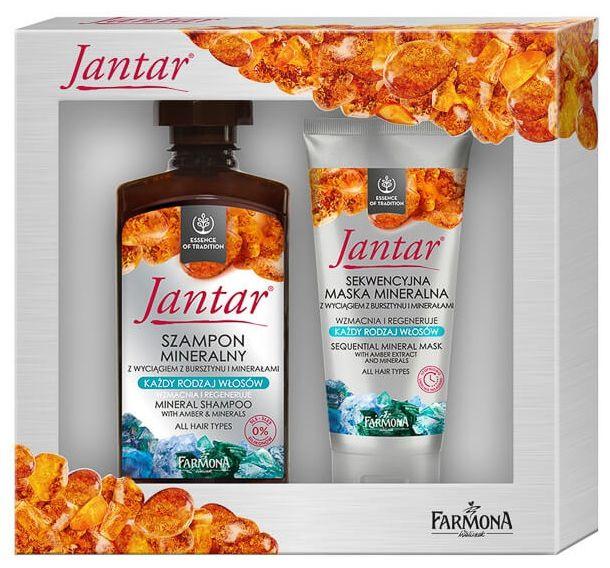 Zestaw Jantar do włosów minerały szampon i maska sekwencyjna