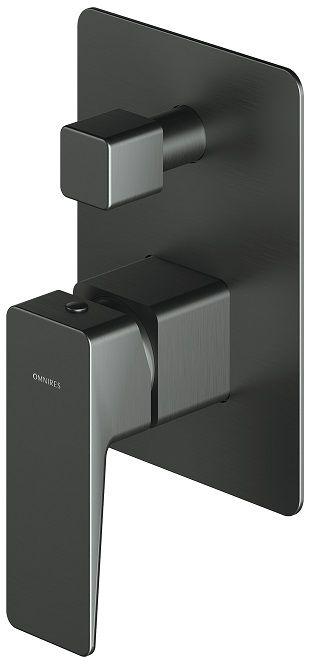Omnires Parma bateria wannowa podtynkowa grafit PM7435GR