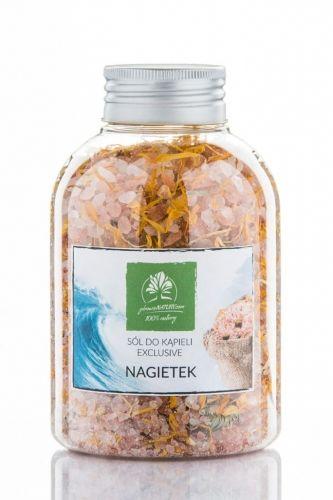 Himalajska sól do kąpieli z nagietkiem - butelka 600g