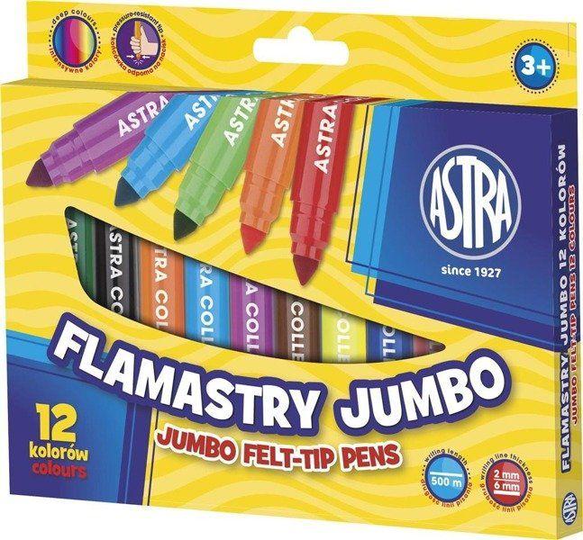 Flamastry Jumbo 12 kolorów ASTRA - ASTRA papiernicze