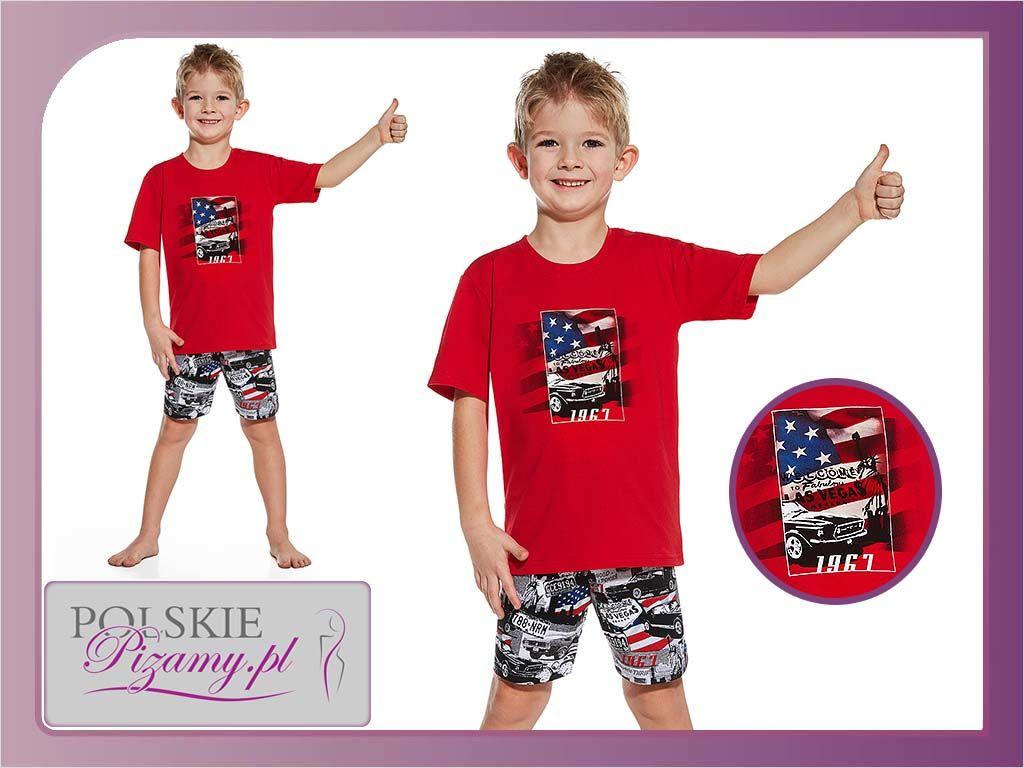 Piżama dziecięca AMERYKA: czerwień