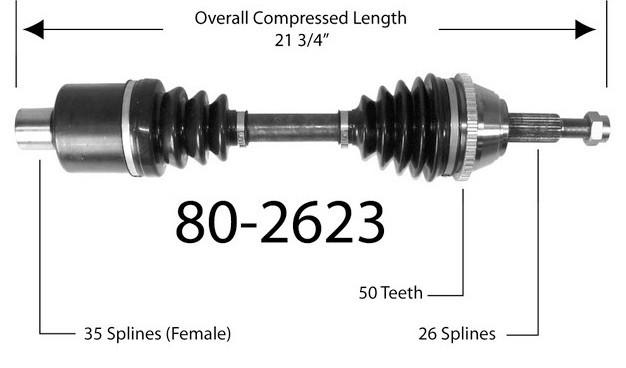 Półoś napędowa przednia 80-2623