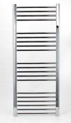 Grzejnik łazienkowy york - wykończenie zaokrąglone, 500x1200, chromowany