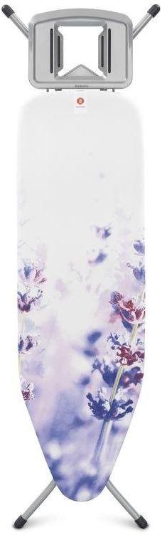 Brabantia - deska do prasowania rozmiar 124 x 38 cm, rama szara 22mm - lavender