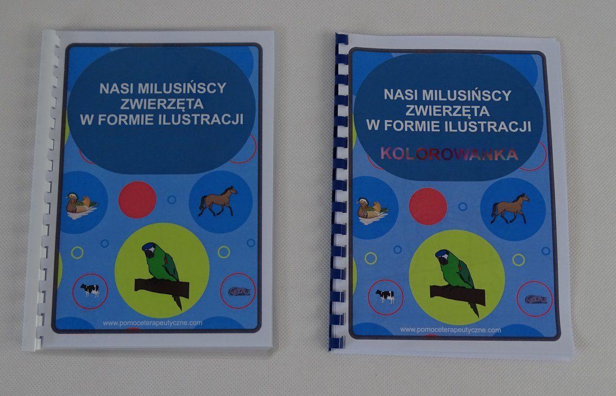Nasi milusińscy zwierzęta w formie ilustracji - kolorowanka dla dzieci Nasi milusińscy zwierzęta w formie ilustracji z kolorowanką dla dzieci