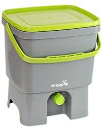 Cuisine-C 019750008 pojemnik na kompost z kranikiem z tworzywa sztucznego, wymiary: 32 x 26 x 37,5 cm, szary