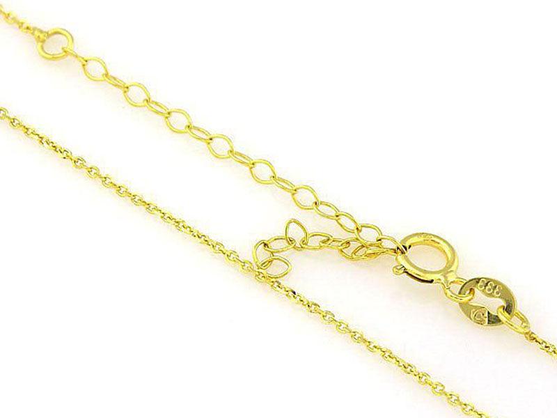 Złoty łańcuszek ankier 585 mocny splot 45cm