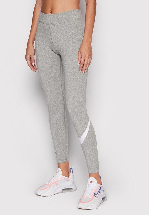 Legginsy Sportswear Essential CZ8530 Szary Slim Fit