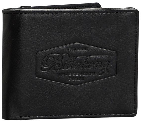 Billabong WALLED black mężczyzna luksusowy portfel