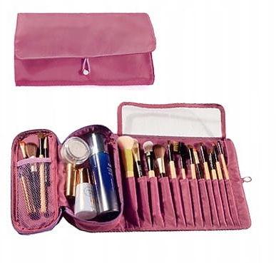 Kosmetyczka VEGAS organizer na pędzle do makijażu różowy