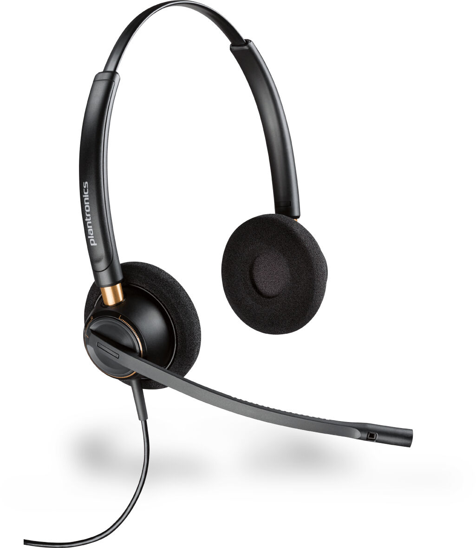 POLY EncorePro HW520 Zestaw słuchawkowy Opaska na głowę Czarny