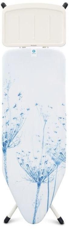Brabantia - deska do prasowania rozmiar 124 x 45 cm z podstawą na generator pary - cotton flower