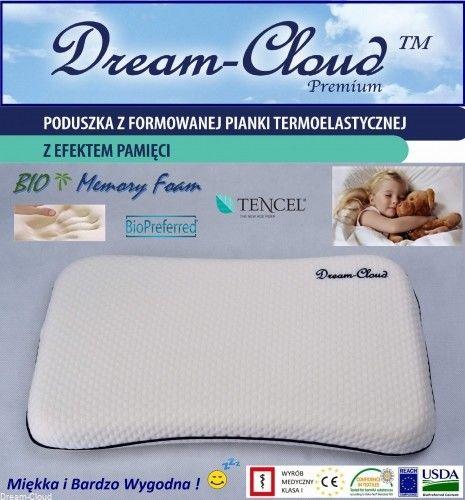 Poduszka Ortopedyczna Dream-Cloud Premium Bio Dziecięca 50x30x6(3+3) cm - 1-6 l.