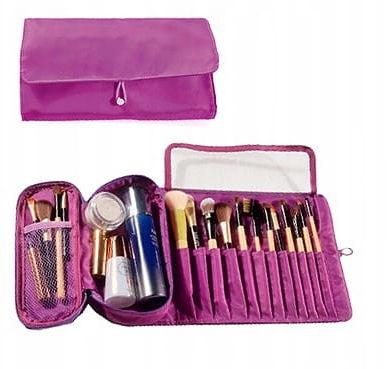 Kosmetyczka VEGAS organizer na pędzle do makijażu fioletowy