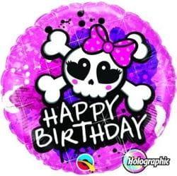 """Balon foliowy """"Happy Birthday Rockowe Piratki"""" 18"""""""