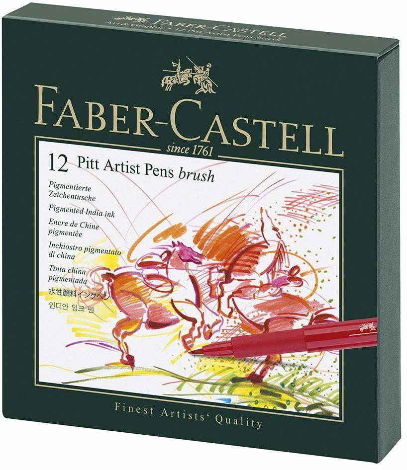 Faber-Castell Pitt Artist Pen B, Atelierbox 12 sztuk