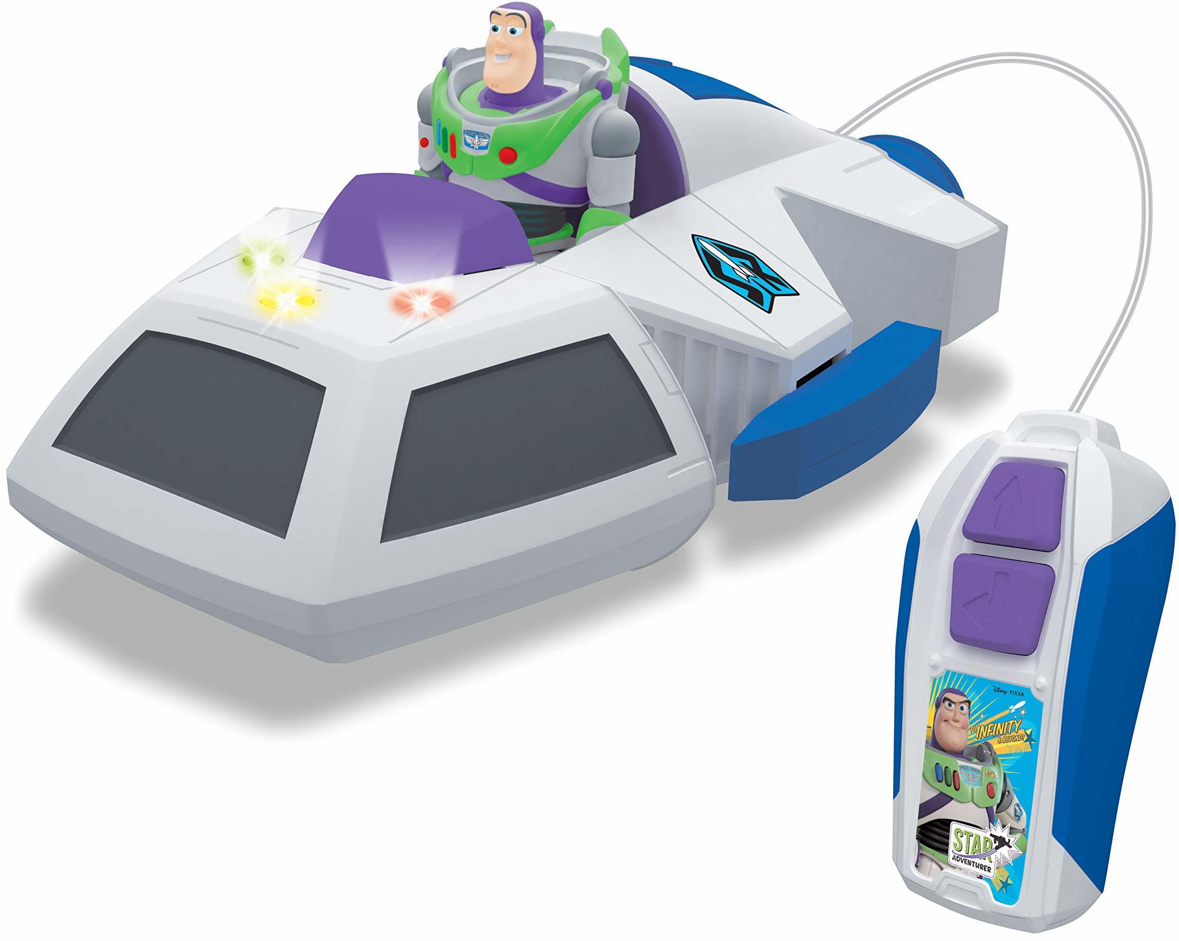 Dickie Toys Toy Story 4 Space Ship Buzz figurka Buzz Lightyear, zdalnie sterowana zabawka Toy Story 4, zabawka do zabawy z sterowaniem radiowym, dla dzieci od 3 lat