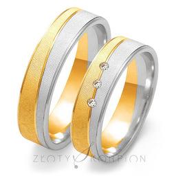 Obrączki ślubne Złoty Skorpion  wzór Au-OE198