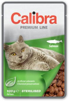 CALIBRA CAT NEW PREMIUM STERILISED SALMON 100 G