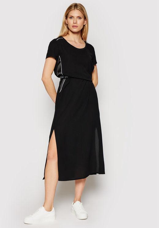 Sukienka codzienna TA1007 T8552 Czarny Regular Fit