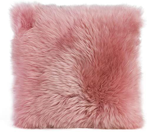 Gözze poszewka na poduszkę z owczej skóry, 40 x 40 cm, brudny róż, 40149-39-4141