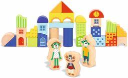 Kolorowe Klocki z Rodziną Treflików Zabawka Drewniana dla Dzieci od 18 miesiąca życia