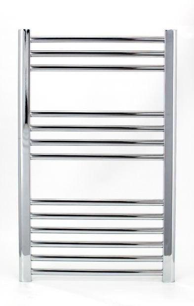 Grzejnik łazienkowy york - wykończenie proste, 600x800, chromowany