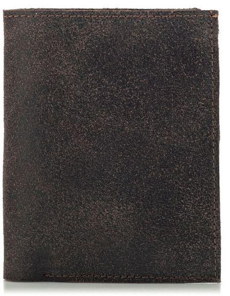 Portfel Vintage Męski Slim Skóra Brąz CR42