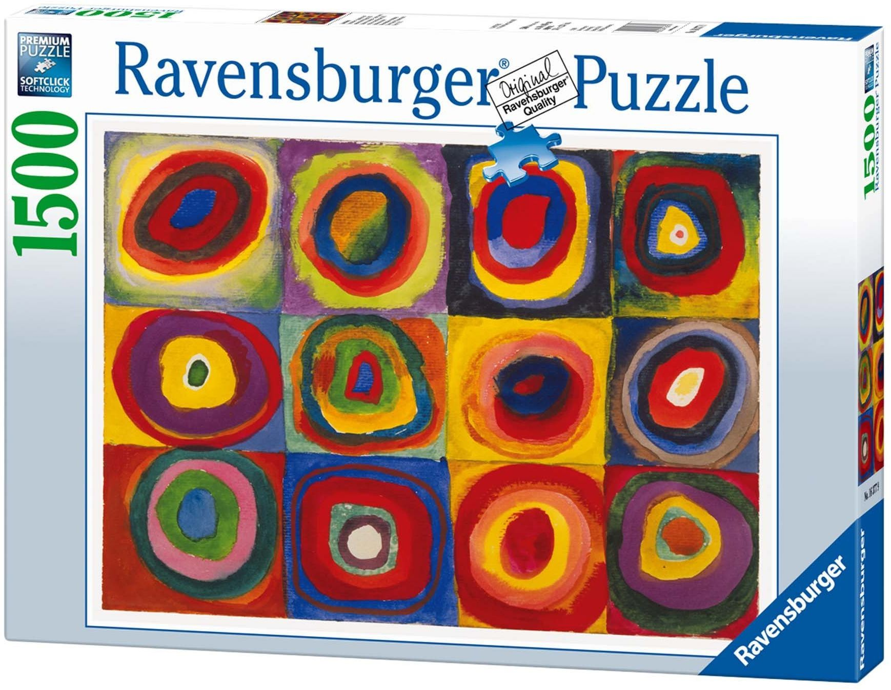 Ravensburger 16377 - Kandinsky: badanie kolorów, kwadraty 1913-1500 części puzzle