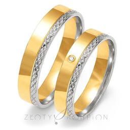 Obrączki ślubne Złoty Skorpion  wzór Au-OE199