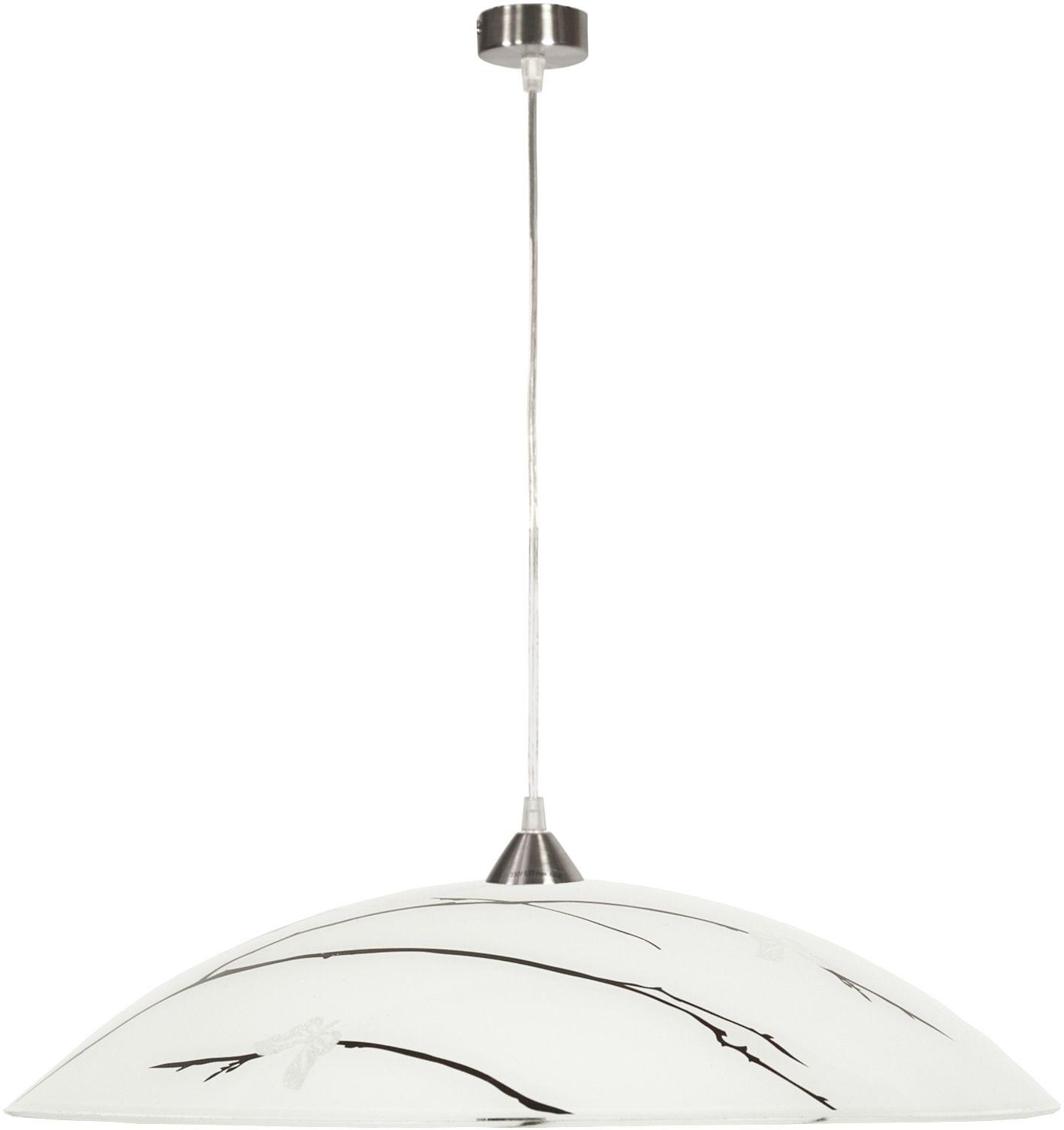 Candellux BRAGA 31-09265 lampa wisząca biały klosz zdobiony 1X60W E27 40 cm