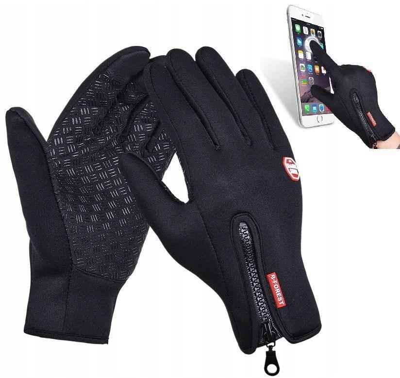 Rękawice zimowe dotykowe na rower RKW2-L rozm. L