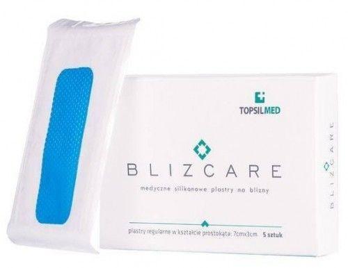 BLIZCARE Regular silikonowy plaster w kształcie prostokąta 7x3cm 1szt