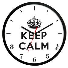 Zegar ścienny solid keep calm /czarny