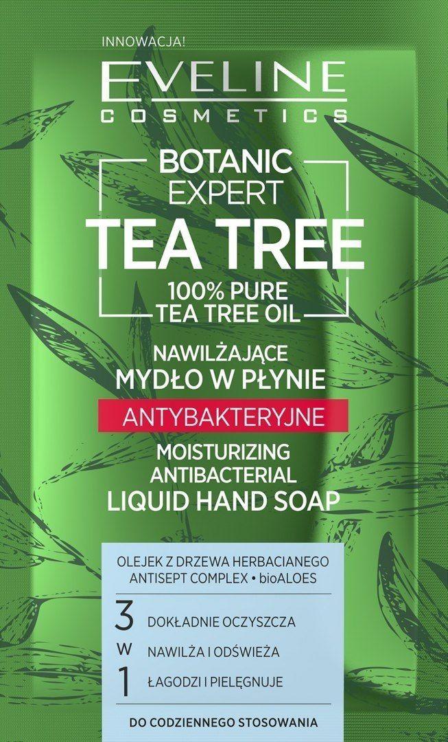 Eveline Eveline Botanic Expert Tea Tree Nawilżające Mydło w płynie antybakteryjne 75ml-saszetka