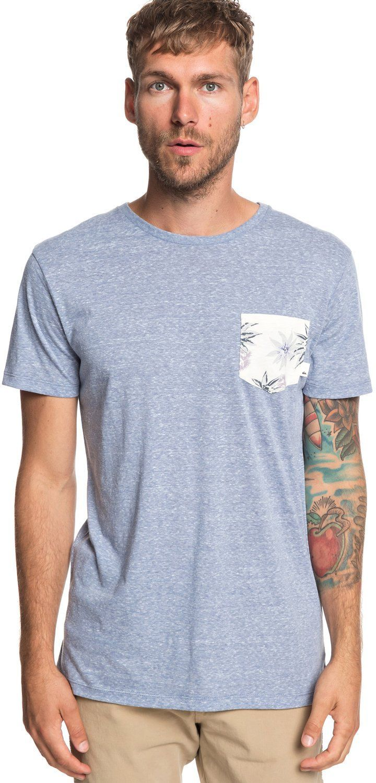 t-shirt męski QUIKSILVER BROKEN LEASH Stone Wash - BKJ0