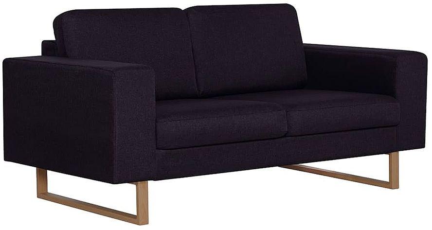 Elegancka dwuosobowa sofa Williams 2X - czarna