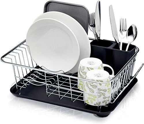 Kitchen Craft Ociekacz Z Tacką 42 x 30,5 x 15,5 cm Srebrny/Czarny