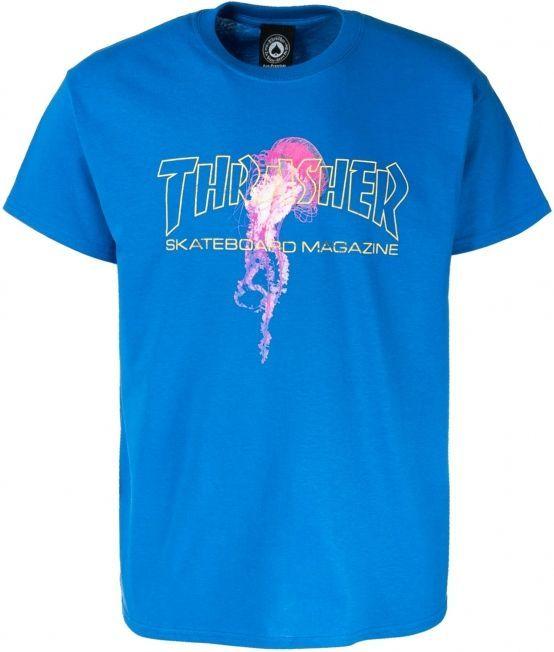 t-shirt męski THRASHER ATLANTIC DRIFT TEE Royal Blue