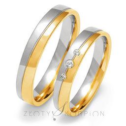 Obrączki ślubne Złoty Skorpion  wzór Au-OE200